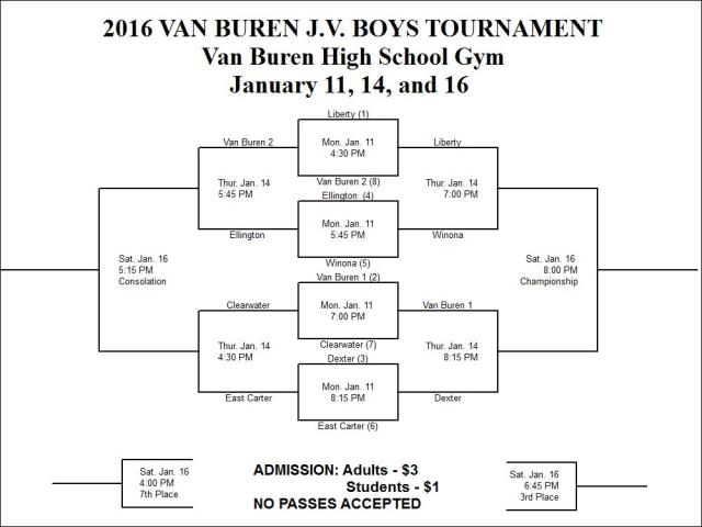 2016 JV Boys Van Buren Tournament