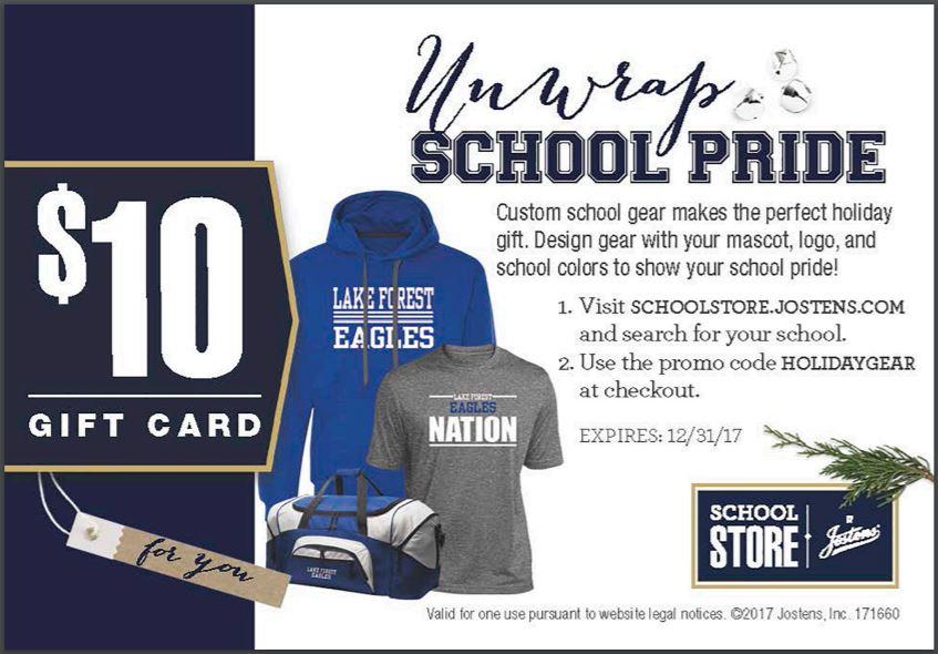 10 gift card to spend in chs school store clearwater high school fandeluxe Gallery