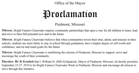 Bright Futures Proclamation