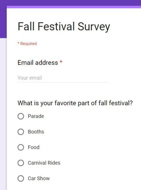 Fall Festival Survey