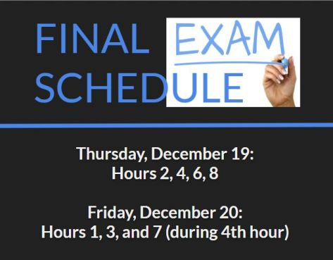 Final Exam Schedule Dec 2019